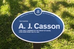 AJ Casson Sign
