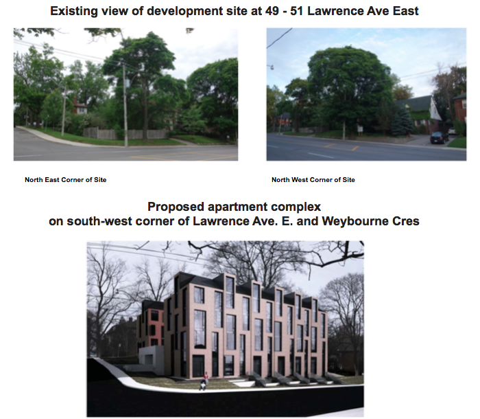 Existing vs Proposed NE NW corners Lawrence Weybourne