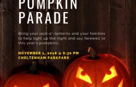 Cheltenham Park Great Pumpkin Parade – November 1, 2018