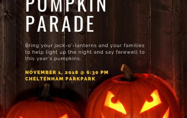 Cheltenham Park Great Pumpkin Parade – November 1, 2018